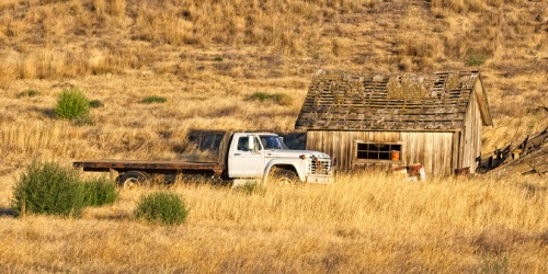 Cabin and Truck by Gary Hamburgh - All Rights Reserved