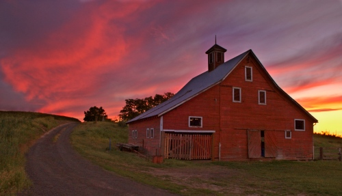 Barn at Sunset by Gary Hamburgh - All Rights Reserved