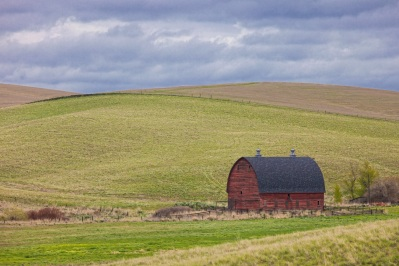 Red Barn near St. John by Gary Hamburgh - All Rights Reserved