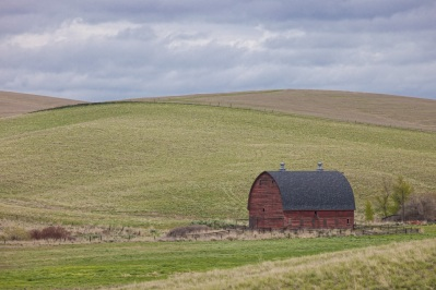 Red Barn near St. John with tonal contrast filter