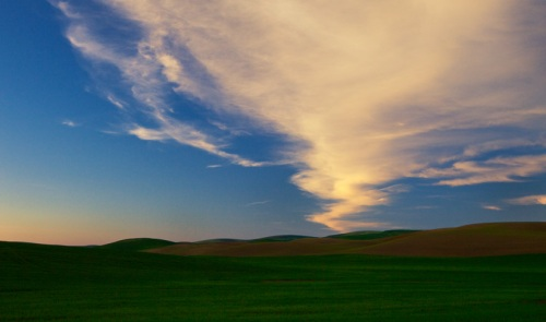 Clouds above the Landscape by Gary Hamburgh - All Rights Reserved