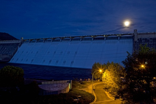 Grand Coulee Dam at Night by Gary Hamburgh _ All Rights Reserved