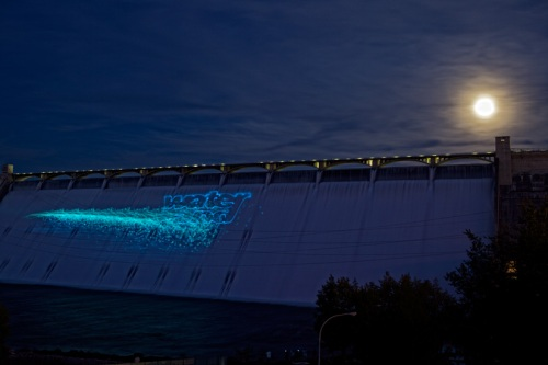 Laser Show at Grand Coulee Dam by Gary Hamburgh _ All Rights Reserved
