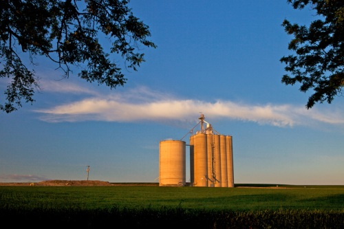 Grain Elevator in Morning Light - Copyright Gary Hamburgh - All Rights Reserved