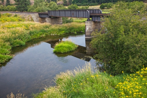 Railroad Bridge in Palouse by Gary Hamburgh - All Rights Reserved