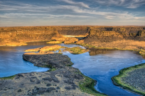 Evening at Dry Falls Overlook - Copyright Gary Hamburgh 2009- All Rights Reserved